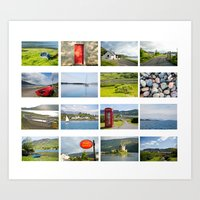 scotland Art Prints featuring Scotland by Basma Gallery