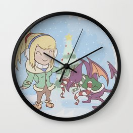 Samus in Christmas Wall Clock