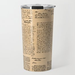 George Washington's Letters // Dark Paper Travel Mug