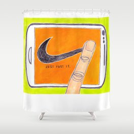 Just Post It Shower Curtain