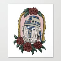 r2d2 Canvas Prints featuring R2D2 by Bare Wolfe