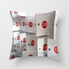 Lockers Throw Pillow