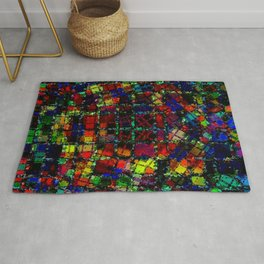 Urban Psychedelic Abstract Rug