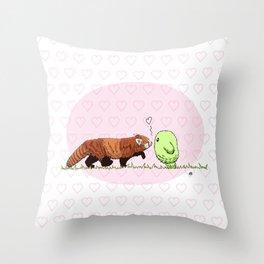 Red Panda Fluff Throw Pillow