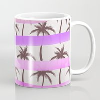 palm trees Mugs featuring Palm Trees by Ornaart