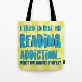 Reading Addiction Tote Bag