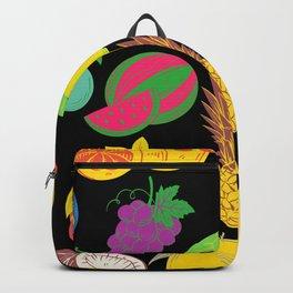 Fruit   Black Background  Backpack