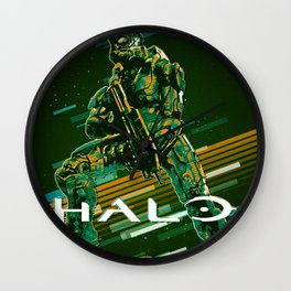 Halo retro art Wall Clock