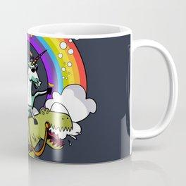 Unicorn ride dino Coffee Mug