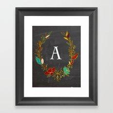 m mongramed Framed Art Print