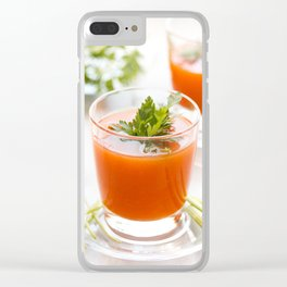 Tomato juice with parsley. Clear iPhone Case