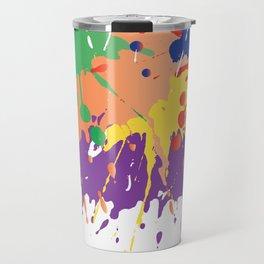 Colourful Paint splash Travel Mug