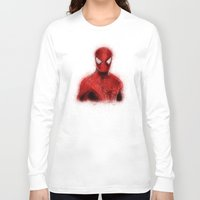 spider man Long Sleeve T-shirts featuring Spider-Man by KitschyPopShop