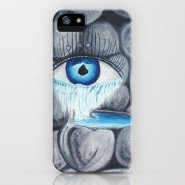 L'amour au coeur de pierre iPhone Case