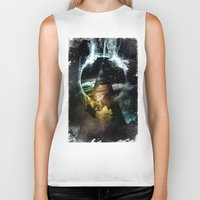 child Biker Tanks featuring Thunder child by HappyMelvin