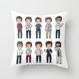 Outfits NYC Throw Pillow