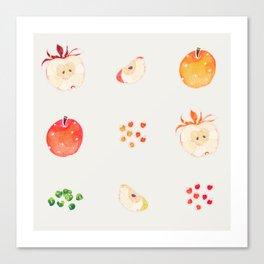 Cloud Land apples  Canvas Print