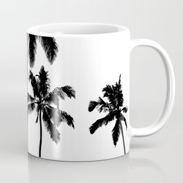Monochrome tropical palms Coffee Mug