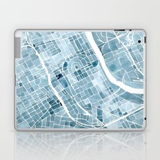 Map Nashville Tennessee Blueprint City Map Laptop & iPad Skin