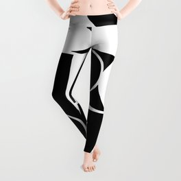 St. Tropez in white and black Leggings
