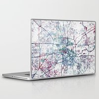 houston Laptop & iPad Skins featuring Houston map by MapMapMaps.Watercolors