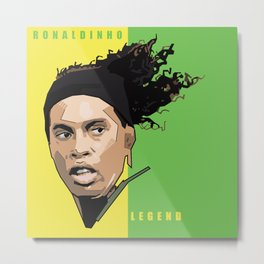 Ronaldinho - Legend Metal Print