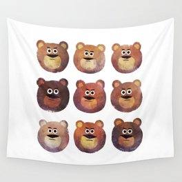 Nine Angry Bears Wall Tapestry