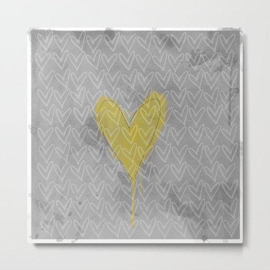 HappyHeart Metal Print