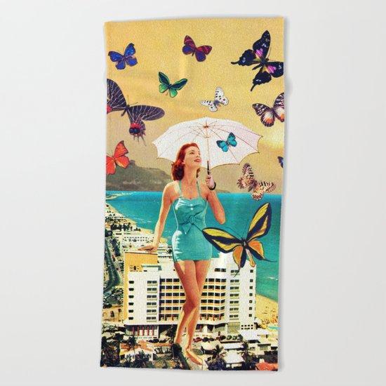 Petaloudes Beach Towel