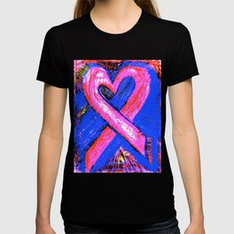 Super-Ribbon!! A Pink Ribbon for Breast Cancer Research by Jeffrey G. Rosenberg T-shirt