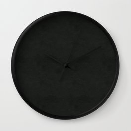 Black Leather Wall Clock