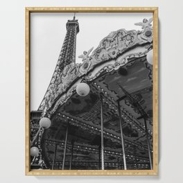 Eiffel Tower Carousel II Serving Tray