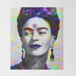 Frida Kahlo iridescence Throw Blanket