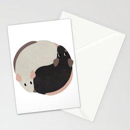 Yin Yang Rats Stationery Cards