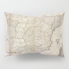 A new & exact map of  Spain and Portugal, divided into its kingdoms and principalities &c.  Pillow Sham