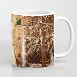 Wintry mood at the castle garden of Laupheim Coffee Mug