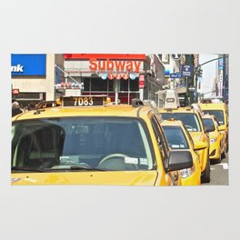 Midtown Manhattan Cabs Rug