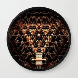 Metallic Gold Abstract Wall Clock
