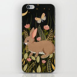 midnight rabbit iPhone Skin