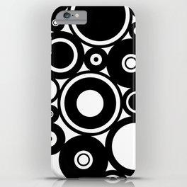 Retro Black White Circles Pop Art iPhone Case