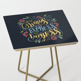 Use Words to Express not Impress - colour Side Table