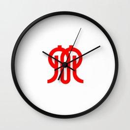 flag of kanagawa Wall Clock