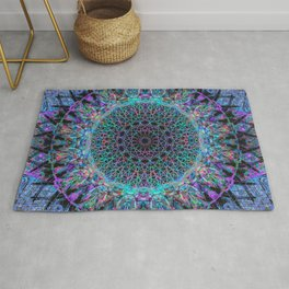 Glitch Stained Wheel Rug