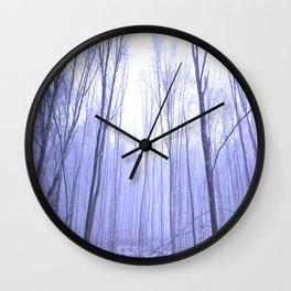 Forest in Winter Wall Clock