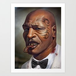 "Mike Tyson ""Punched OUT"" Art Print"