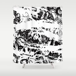 The Florest | Black and White Abstract Art | Art Prints Abstract Shower Curtain