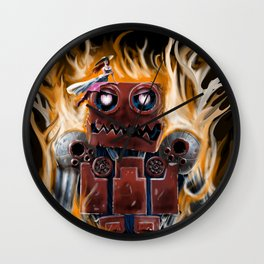 The Lady and The Robot Wall Clock