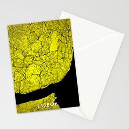 Lisboa map Stationery Cards