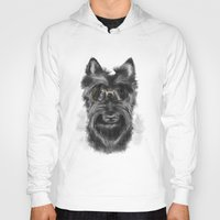 schnauzer Hoodies featuring MR. SCHNAUZER by Sukma Arisanti