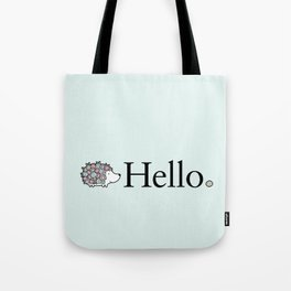 Hello Hedgehog Tote Bag